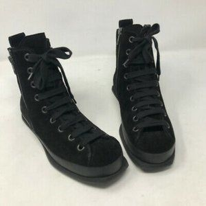 Ann Demeulemeester High Top Square Toe Sneakers